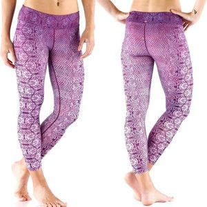 •Prana• Roxanne Printed Leggings Cropped Purple